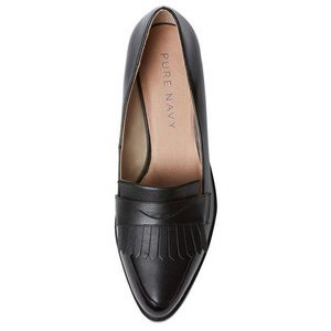 Pure navy Harley fringed penny loafers
